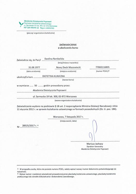 Jadłospisy Poradnia Vitalność